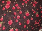 Black Floral Stretch Netting 2 yard x 60 inch