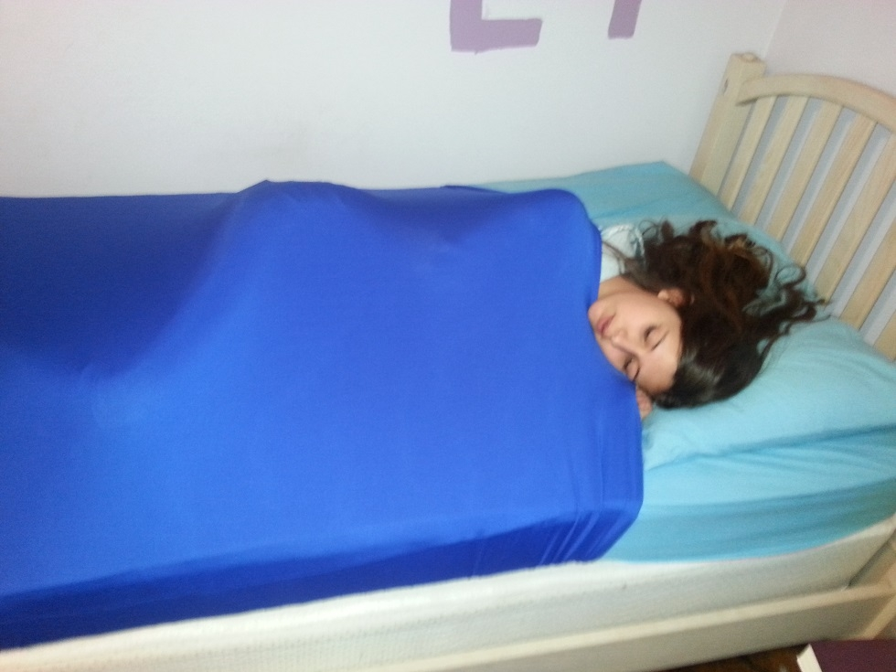 Lycra Compression Bed Sheet Skweezers Autism Sensory